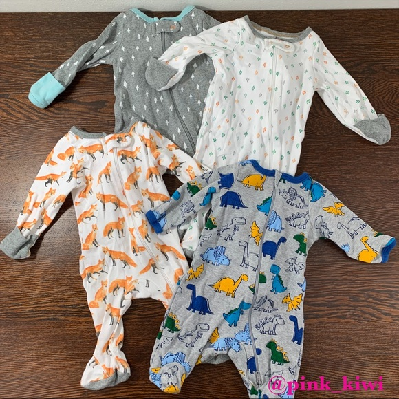 Garanimals Infant//Preemie Boys Dinosaur Sleeper NWT